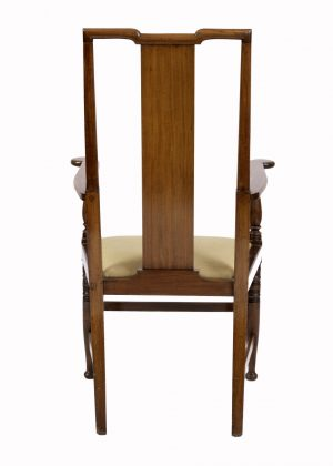 An Arts and Crafts mahogany armchair