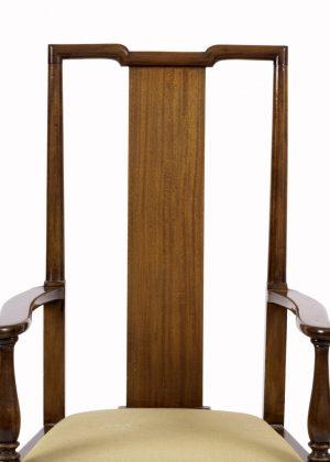 An Arts and Crafts mahogany armchair