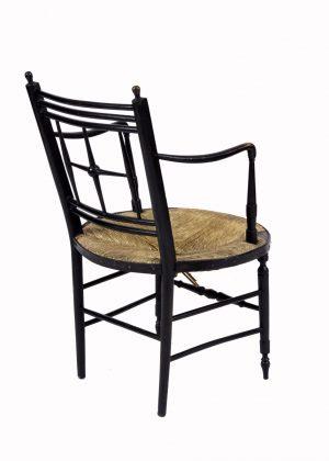 A good rush seated armchair
