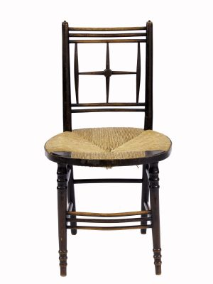 A good rush seated side chair from Paul Reeves London