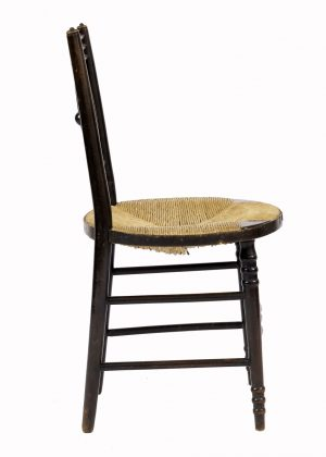 A good rush seated side chair