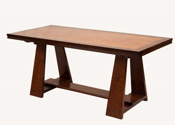 A walnut and fruit wood refectory table from Paul Reeves London