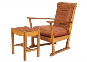 An oak chair and stool from Paul Reeves London