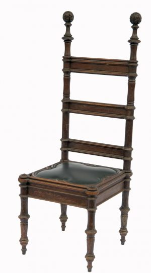 A pair of oak Gothic Revival side chairs