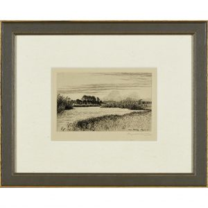 A set of six framed etchings ' The New Forest '