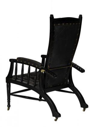 An Aesthetic Movement reclining chair