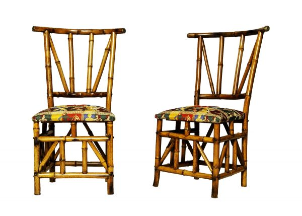 A pair of bamboo chairs from Paul Reeves London