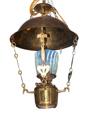A brass Arts and Crafts hanging lamp from Paul Reeves London