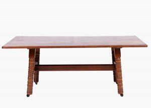An oak Morris & Co. 'Kelmscott' table