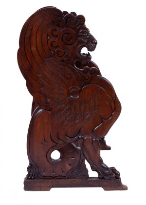A Medieval Revival 'Lion' settle