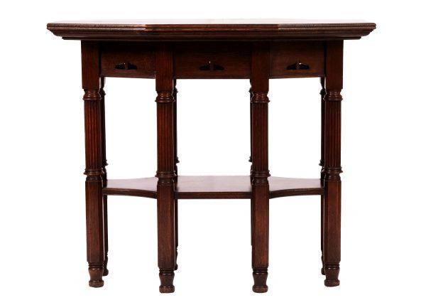 A Glasgow School oak table