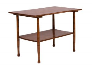 A pale wood Aesthetic Movement table