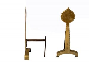 A pair of Arts & Crafts fire andirons