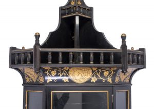 A floor standing corner cabinet