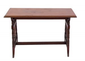 A mahogany occasional table
