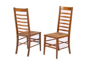 A pair of Glasgow School chairs