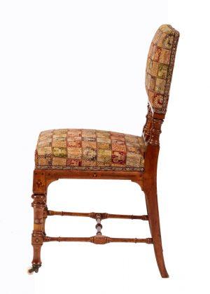 An inlaid fruitwood chair